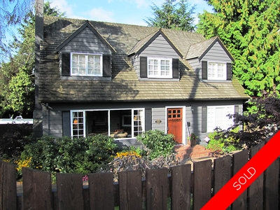 Delbrook Cape Cod- Style House for sale:  4 bedroom 2,484 sq.ft., North Vancouver, BC, Canada